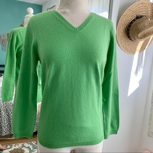 Cashmere Lime Green Sweater
